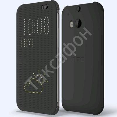 Flip чехол для HTC One M8 Dot View Cover Grey